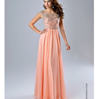Gorgeous Peach Open Back Dress