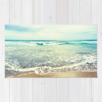 Oh, the sea, the sea... Area & Throw Rug by Lisa Argyropoulos | Society6