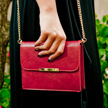 Red Ruby Shoulder Purse
