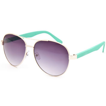 Full Tilt Aviator Sunglasses Mint One Size For Women 25642152301