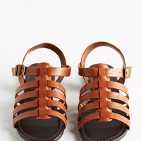 Just My Nature Sandal in Mahogany | Mod Retro Vintage Sandals | ModCloth.com