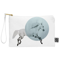 Morgan Kendall White Horse Pouch