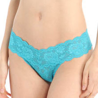 Cosabella Nev03ZB Never Say Never Bootie Lace Thong