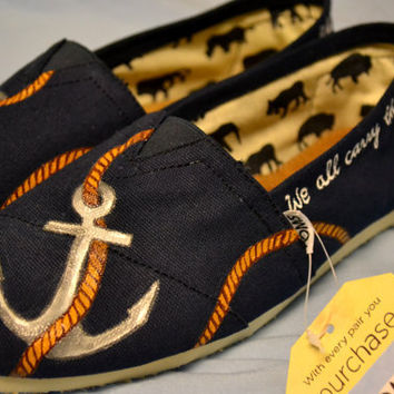 Custom hand painted TOMS shoes FREE SHIPPING by AmandaJoyBowers