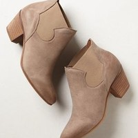 Chelsea Ankle Booties by Anthropologie Taupe 37 Euro Boots