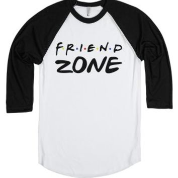 Friend Zone-Unisex White/Black T-Shirt