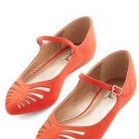ModCloth Head of the Sass Flat in Scarlet