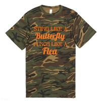Duck Dynasty - Sting Butterfly Punch Flea (camo)-Green T-Shirt