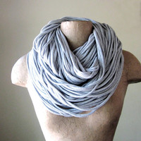 SUPER CHUNKY scarf in heather gray jersey cotton by EcoShag