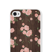 iPhone 5 Case - Floral iPhone 5c Case - Floral iPhone 5 Case - Floral iPhone Case - Floral Phone Case - Wood Phone Case Coral Peach Pink