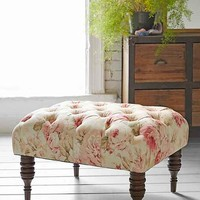 Halliday Floral Ottoman- Floral Multi One
