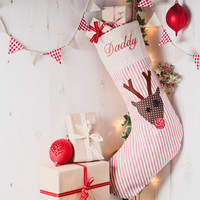 Everyone needs a Christmas stocking, and these are perfect for hanging around the fireplace. Personalised with the name of your choice.