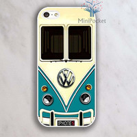 VW Minibus Teal Iphone Case - iPhone 4 Case, iPhone 4s Case, iPhone 5 case