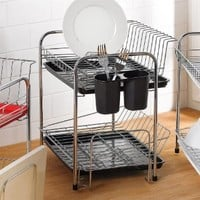 Brylanehome Compact Color Dish Rack