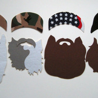 Duck Dynasty photo booth props on a stick
