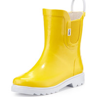 Rubber Rain Boot, Yellow, Youth - TOMS - Yellow
