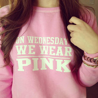 On Wednesdays We Wear Pink  ironon decal by MyLittleCraftyThings