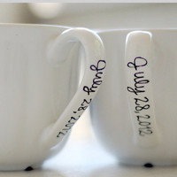 Couples coffee mugs by DakotahLeighs on Etsy