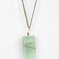 Crystal Pendant Necklace- Mint One