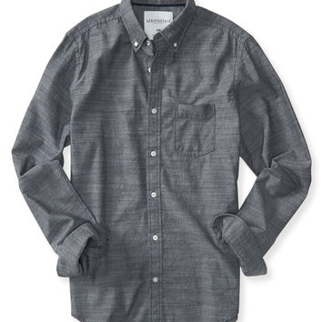 Long Sleeve Textured Oxford Woven Shirt