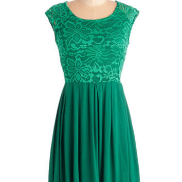 ModCloth Mid-length Cap Sleeves A-line Bold to Behold Dress