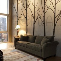 Art Wall Decals Wall Stickers - Winter Trees decal - wall decal 036
