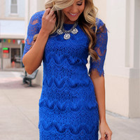 Evening of Bliss Dress - Royal
