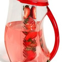 Fruit Infusion Pitcher 3.25 Quart By Decodyne (Red)