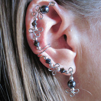 Non Pierced Simple Elegance Hematite and by ArianrhodWolfchild