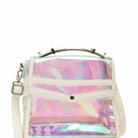 Studded Holographic Mini Bag