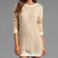 Funktional Spectrum Tunic Sweater in Peach