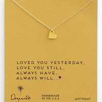 Women's Dogeared 'Sparkle Heart' Boxed Pendant Necklace - Gold Dipped
