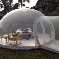 Inflatable Bubble Tent House Dome Outdoor Clear Show Room with 1 Tunnel for Camping for Photo