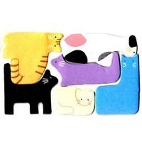 Mixed Kitty Cat Shaped Memo Pad Post-it Index Tab Sticky Notes Tabs   Cute Animal Pet Themed Scrapbook Supplies