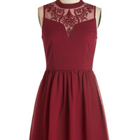ModCloth Mid-length Sleeveless A-line The Way to Whimsy Dress