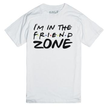 I'm In The Friend Zone-Unisex White T-Shirt