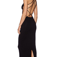 Indah Tamaa Maxi Dress in Black