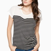 ShopSosie Style : Brighton Striped Tee in Black