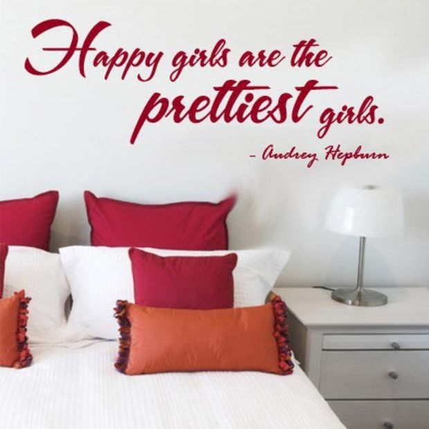 Wall Decal Happy Girls are the Prettiest Girls by decorexpressions