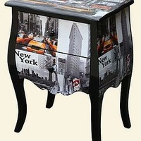 new york / london city print chest of drawers by foxbat boutique   notonthehighstreet.com