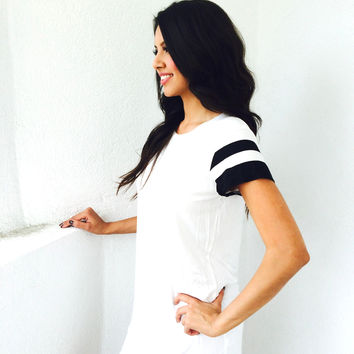 On Your Team Tee Dress- Ivory