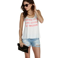 White Awesome Side-effect Tank