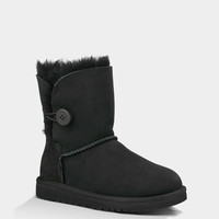 Ugg Bailey Button Girls Boots Black  In Sizes