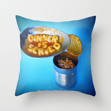 Dinner is Served Throw Pillow by Skye Zambrana | Society6