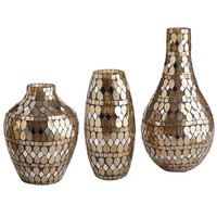 Golden Mosaic Vases