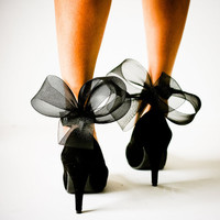 Black Abstract Bow Ankle Cuffs by jdotdesigns on Etsy