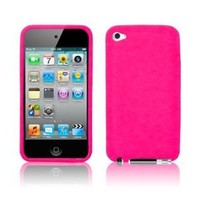 Hot Pink Soft Silicone Skin Case for Apple iPod Touch 4 (4th Generation)