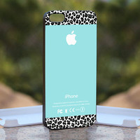 Tiffany Teal and Black Leopard   Design by monggoditumbas on Etsy