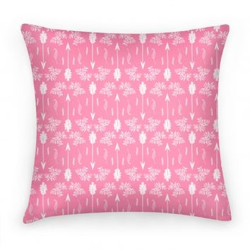 Pink Floral Arrow Pattern