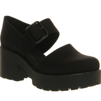 Vagabond Dioon Buckle Shoe Black Canvas - Mid Heels